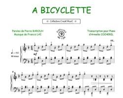 A Bicyclette Francis Lai Partition Chanson française - laflutedepan