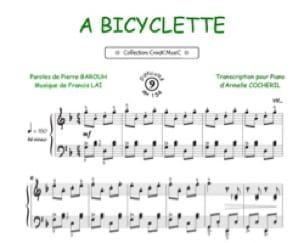 A Bicyclette - Francis Lai - Partition - laflutedepan.com