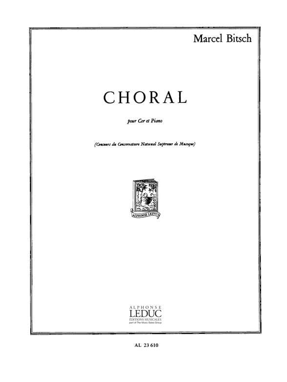 Choral - Marcel Bitsch - Partition - Cor - laflutedepan.com