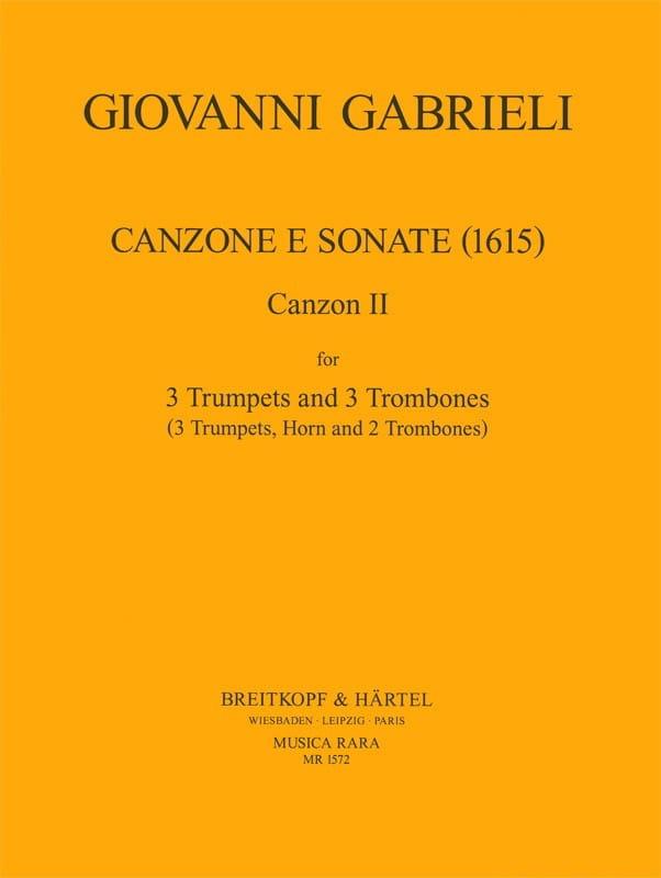 Canzone E Sonate 1615 - GABRIELI - Partition - laflutedepan.com