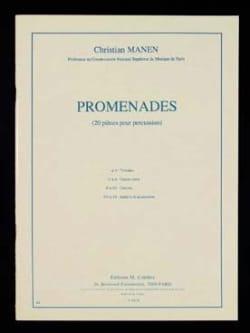 Promenades Christian Manen Partition Multi Percussions - laflutedepan