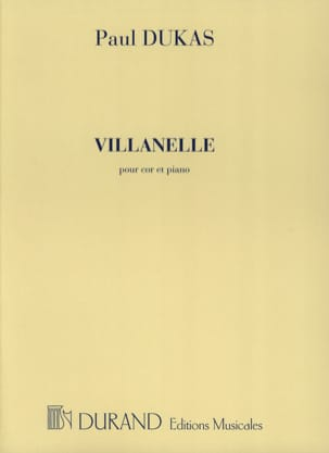 Villanelle DUKAS Partition Cor - laflutedepan
