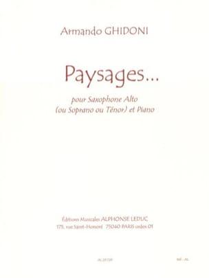 Paysages... Armando Ghidoni Partition Saxophone - laflutedepan