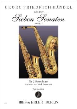 Sieben sonaten opus 1 HAENDEL Partition Saxophone - laflutedepan