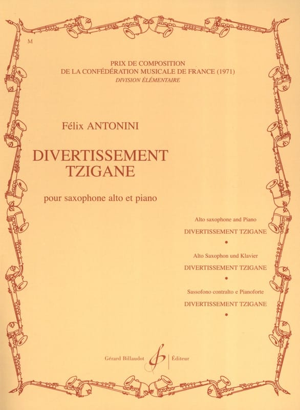Divertissement Tzigane - Felix Antonini - Partition - laflutedepan.com