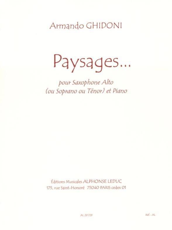 Paysages... - Armando Ghidoni - Partition - laflutedepan.com