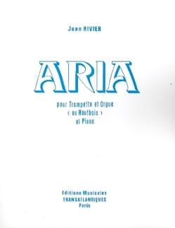 Aria Jean Rivier Partition Saxophone - laflutedepan
