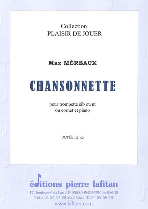 Chansonnette - Max Méreaux - Partition - Trompette - laflutedepan.com