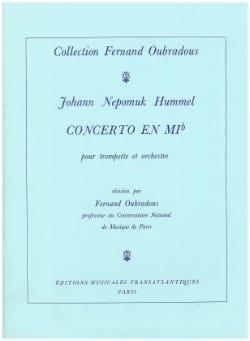 HUMMEL - Concerto In Eb - Partition - di-arezzo.com