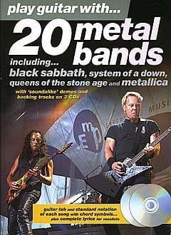 Play Guitar With... 20 Metal Bands Partition Guitare - laflutedepan