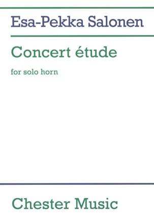 Concert Etude Esa-Pekka Salonen Partition Cor - laflutedepan