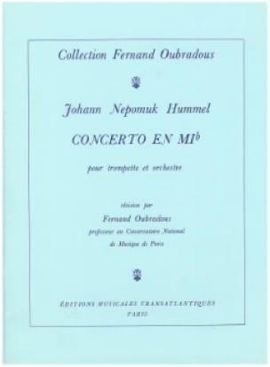 Concerto En Mib - HUMMEL - Partition - Trompette - laflutedepan.com