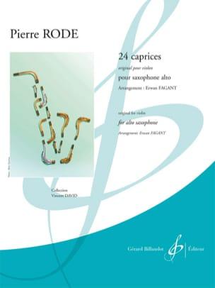 24 Caprices - Original pour violon Pierre Rode Partition laflutedepan