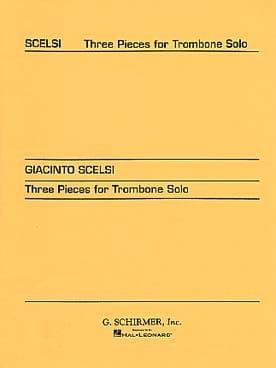 3 Pièces Giacinto Scelsi Partition Trombone - laflutedepan