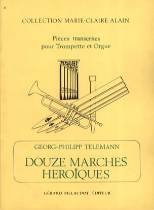 12 Marches Heroïques TELEMANN Partition Trompette - laflutedepan
