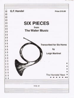Six Pieces From The Water Music HAENDEL Partition Cor - laflutedepan