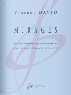 Mirages Vincent David Partition Saxophone - laflutedepan