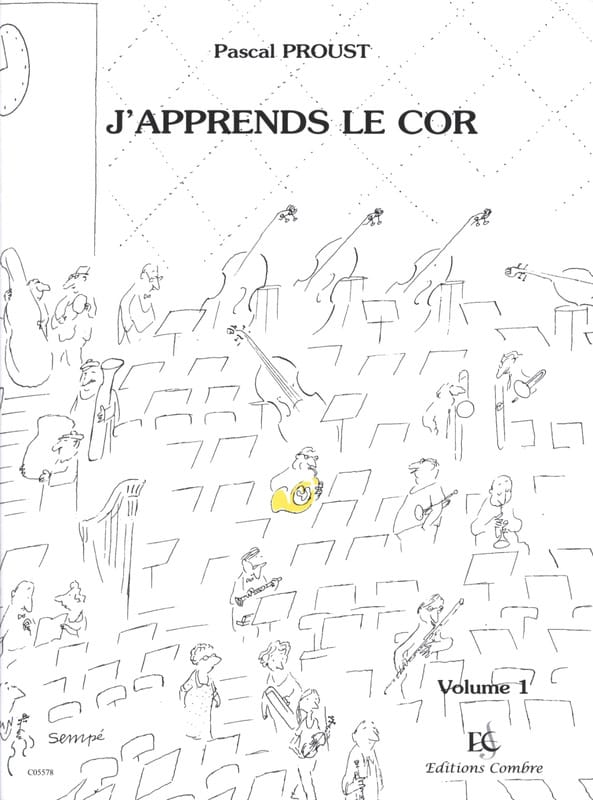 J'apprends le Cor - Volume 1 - Pascal Proust - laflutedepan.com
