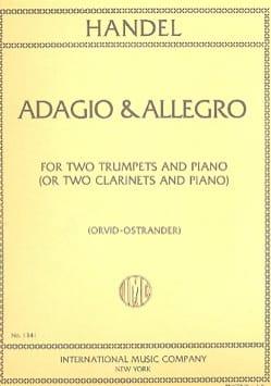 Adagio & Allegro HAENDEL Partition Trompette - laflutedepan