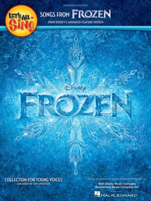 Let's All Sing Songs from Frozen Disney Walt Partition laflutedepan