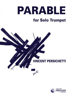 Parable 14 opus 127 Vincent Persichetti Partition laflutedepan