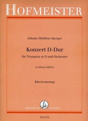 Konzert D-Dur - Johann Matthias Sperger - Partition - laflutedepan.com