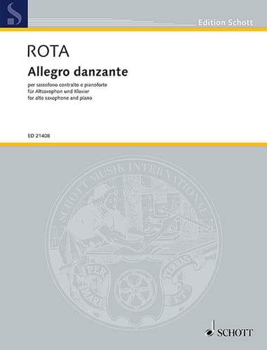 Allegro danzante - ROTA - Partition - Saxophone - laflutedepan.com