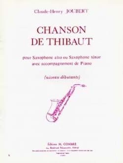 Chanson de Thibaut Claude-Henry Joubert Partition laflutedepan