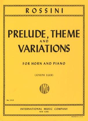 Prélude Thème & Variations ROSSINI Partition Cor - laflutedepan