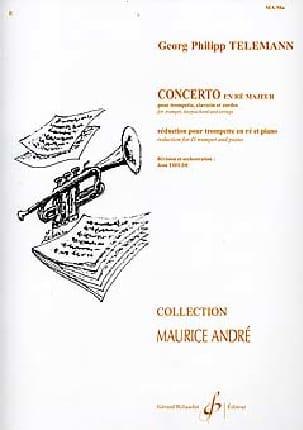 Concerto En Ré Majeur TELEMANN Partition Trompette - laflutedepan