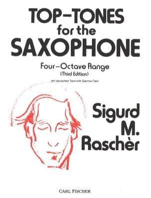 Top-Tones Sigurd M. Raschèr Partition Saxophone - laflutedepan