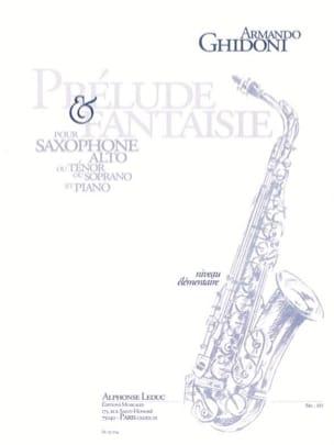 Prélude & Fantaisie Armando Ghidoni Partition Saxophone - laflutedepan