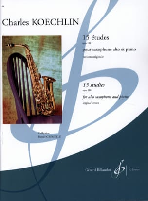 15 Etudes - Opus 188 Charles Koechlin Partition laflutedepan