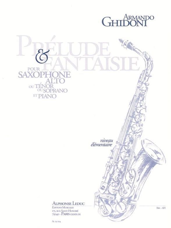 Prélude & Fantaisie - Armando Ghidoni - Partition - laflutedepan.com