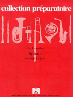 Spleen - Jean Brouquières - Partition - Trompette - laflutedepan.com