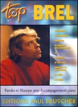 Top Brel Jacques Brel Partition Chanson française - laflutedepan