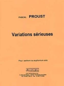 Variations sérieuses Pascal Proust Partition Tuba - laflutedepan