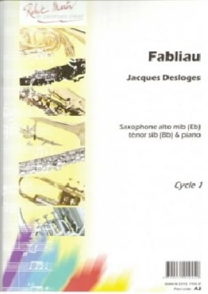 Fabliau - Jacques Desloges - Partition - Saxophone - laflutedepan.com