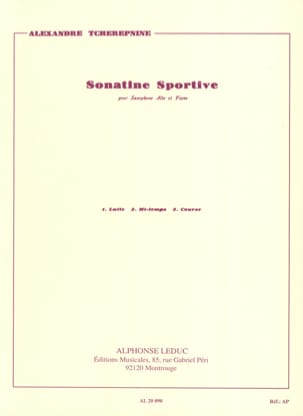 Sonatine Sportive Alexander Tcherepnin Partition laflutedepan