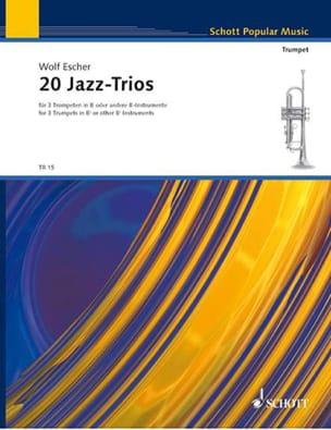 20 Jazz Trios Wolf Escher Partition Trompette - laflutedepan