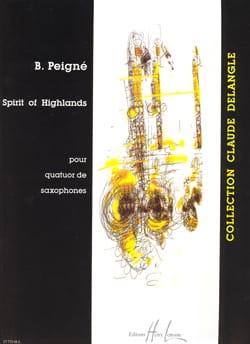 Spirit Of Highlands Bertrand Peigné Partition Saxophone - laflutedepan