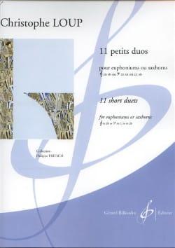 11 Petits Duos Christophe Loup Partition Tuba - laflutedepan
