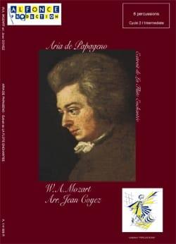 Aria de Papageno - La Flûte Enchantée MOZART Partition laflutedepan