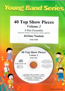 40 Top Show Pieces - Volume 2 Jérôme Naulais Partition laflutedepan