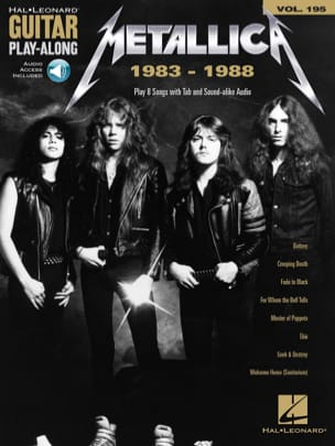 Guitar Play-Along Volume 195 - Metallica: 1983-1988 laflutedepan