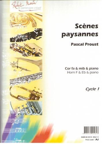 Scènes paysannes - Pascal Proust - Partition - Cor - laflutedepan.com
