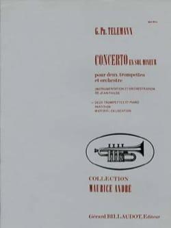 Concerto En Sol Mineur - TELEMANN - Partition - laflutedepan.com