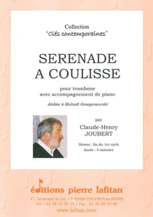 Sérénade à Coulisse Claude-Henry Joubert Partition laflutedepan