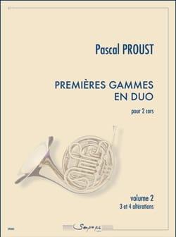 Premières gammes en duo - Volume 2 - Pascal Proust - laflutedepan.com