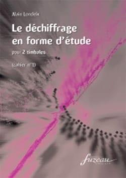Le Déchiffrage En Forme D' Etude Cahier 1 Alain Londeix laflutedepan